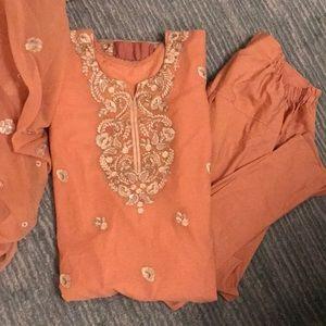 Tea pink Pakistani/Indian outfit